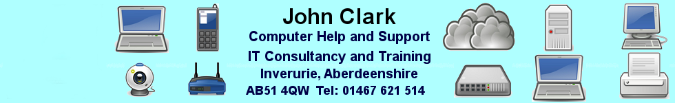 ITJC computer help Inverurie Aberdeenshire, Scotland - repairs, support, training, IT consultancy for home users or businesses
